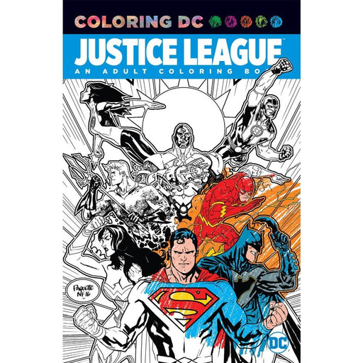 JUSTICE LEAGUE AN ADULT COLORING BOOK TP - Books Graphic Novels