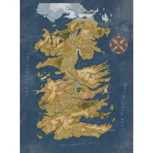 GAME OF THRONES CERSEI WESTEROS MAP PUZZLE - Toys/Models