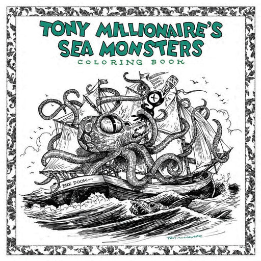 TONY MILLIONAIRE SEA MONSTER COLORING BOOK SC - Books Novels/SF/Horror