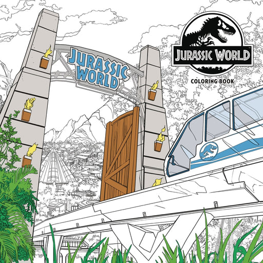 JURASSIC WORLD ADULT COLORING BOOK PAPERBACK - Books Novels/SF/Horror