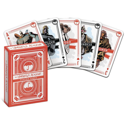 UMBRELLA ACADEMY PLAYING CARDS - Novelties Non Comic