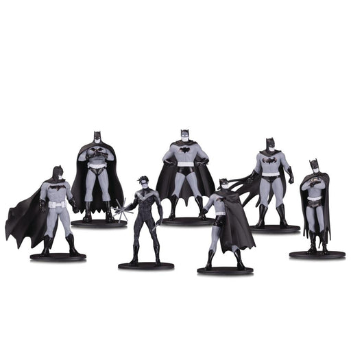 BATMAN BLACK & WHITE MINI PVC FIGURE 7 PACK SET 1 - Toys/Models