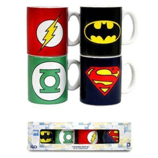 DC SYMBOL 4 ESPRESSO MUG SET - Novelties-Comic
