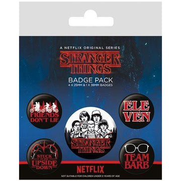 Stranger Things Pin Badges 5-Pack Characters - Pins & Brooches Stranger Things