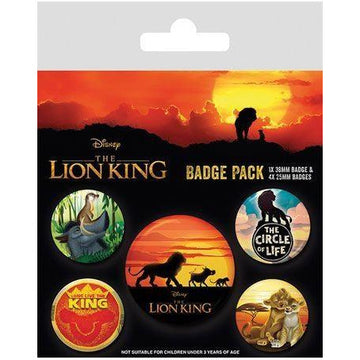 The Lion King Pin Badges 5-Pack Life of a King - Pins & Brooches Lion King The