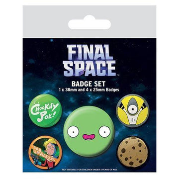 Final Space Pin Badges 5-Pack Spaced - Pins & Brooches Final Space