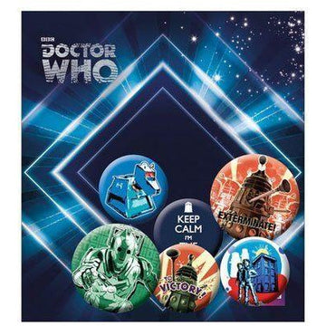 Doctor Who Pin Badges 6-Pack Retro - Pins & Brooches Doctor Who