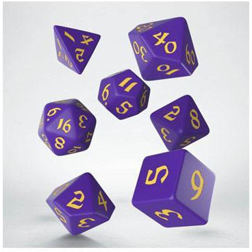 Classic RPG Runic Dice Set purple & yellow (7) (QWSCLR93)