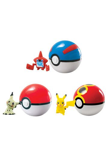 Pokemon Clip´n´Carry Poké Ball Wave D10 Assortment (6)