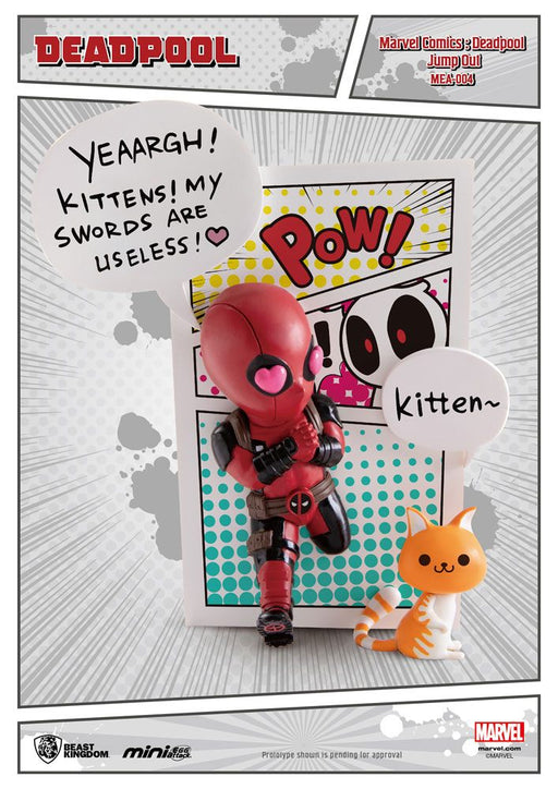 Marvel Comics Mini Egg Attack Figure Deadpool Jump Out 4th Wall 12 cm --- DAMAGED PACKAGING