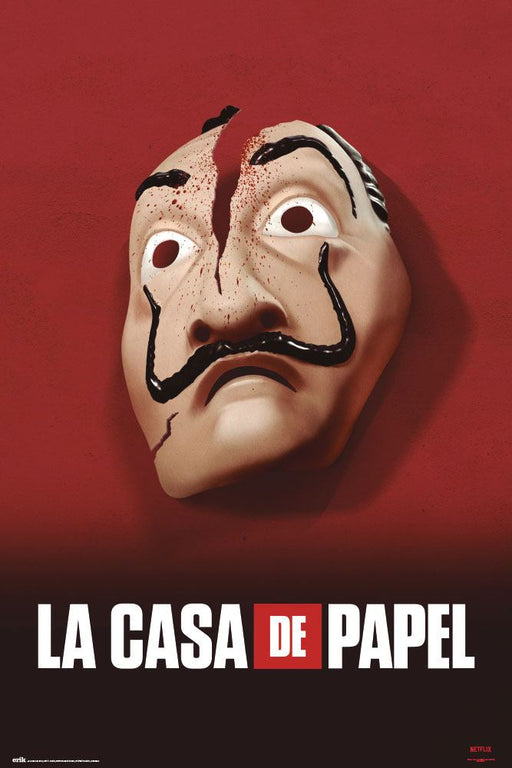 Money Heist Poster Mask 61 x 91,5 cm (GPE5322)