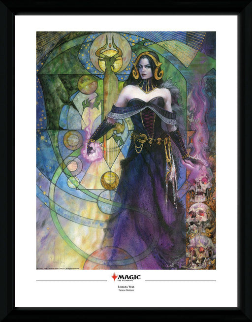 Magic the Gathering Framed Poster Liliana, Untouched by Death