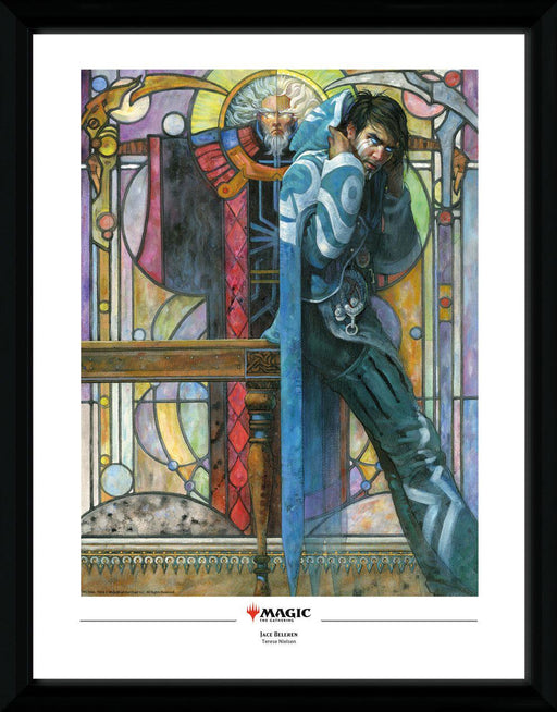 Magic the Gathering Framed Poster Jace, The Cunning Castaway