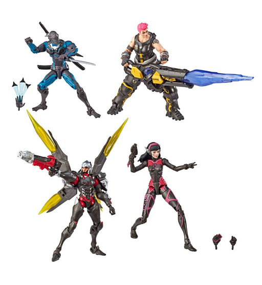 Overwatch Ultimates Action Figures 4-Pack Carbon Fiber 15 cm --- DAMAGED PACKAGING
