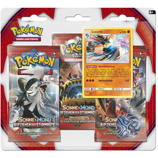 Pokemon Sun and Moon 3-Pack booster Crimson Invasion *German Version*