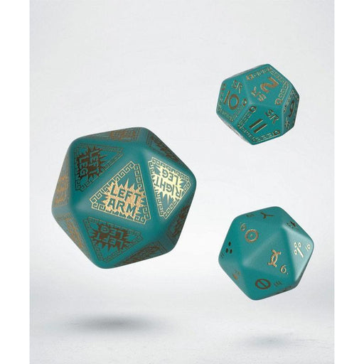 RuneQuest Dice Expension Set turquoise & gold (3) (QWSSRQE97)