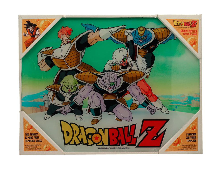Dragon Ball Z Glass Poster Special Forces 30 x 40 cm
