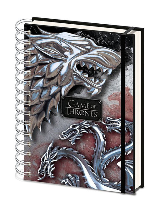 Game of Thrones Wiro Notebook A5 Stark & Targaryen (SR72503)