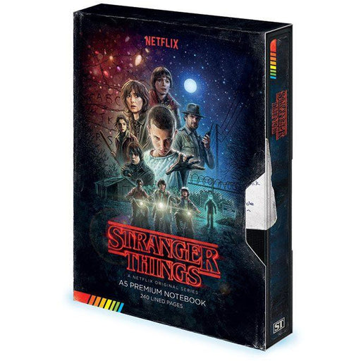 Stranger Things Premium Notebook A5 VHS (S1)