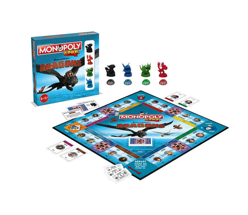 How to Train Your Dragon Board Game Monopoly Junior *French Version*
