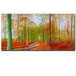 David hockney more paint huge abstract oil Giclee canvas print sizes displayed for the mural