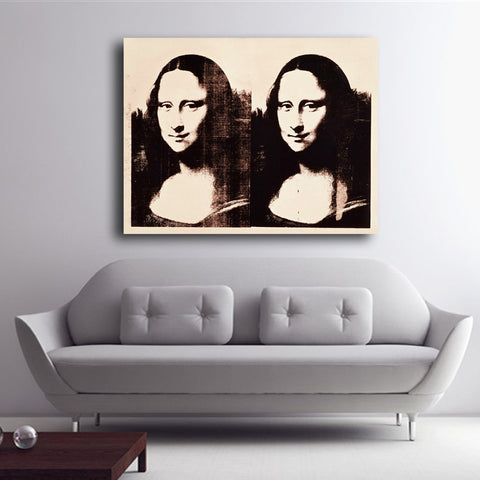 2016 Double Mona Lisa 1963 by Andy Warhol Art Print POP displays on canvas for wall decoration