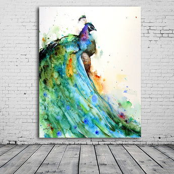 2017 Canvas Oil Paintings For Living Room Bedroom Beautiful watercolor Peacock Paintings Modern Decoration Oil Painting No Frame