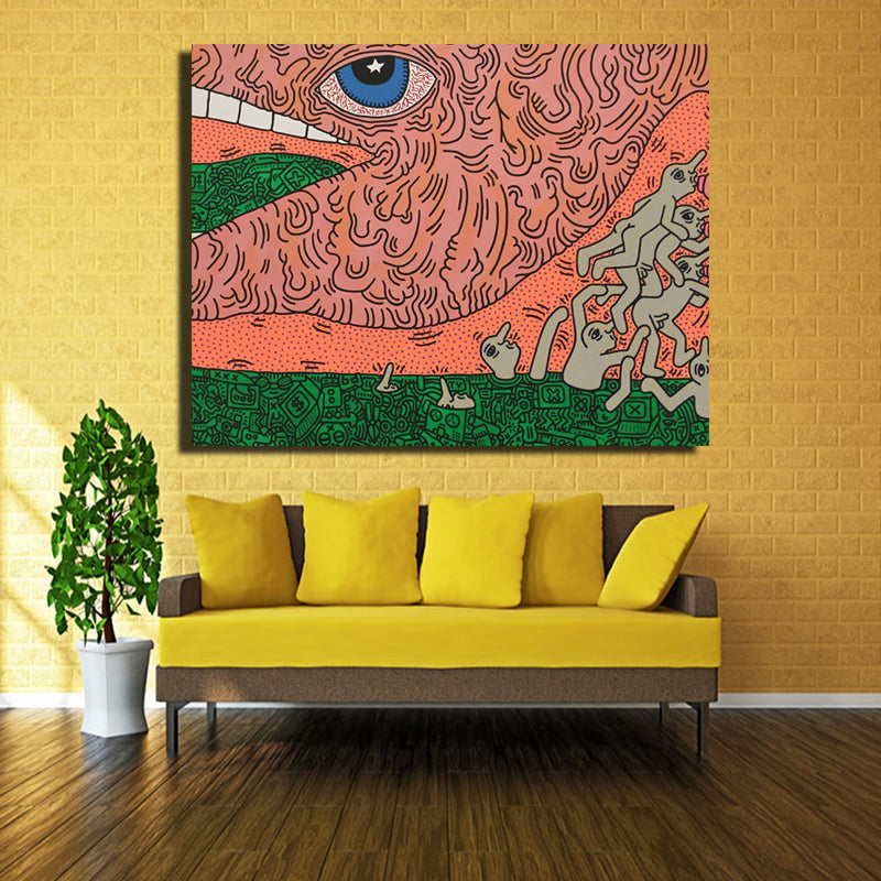 Decoracion Yayoi Kusama Frameless Paintings Modern Abstract eyes ...