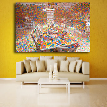 Decoracion Yayoi Kusama Frameless Paintings Modern Color table Wall Art Quotes Home Decor Free Shipping