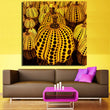 Yayoi Kusama Pumpkin Canvas Art Modern Paintings Gifts Wall Art Quotes Bedroom Decor Cuadros Decoracion Frameless