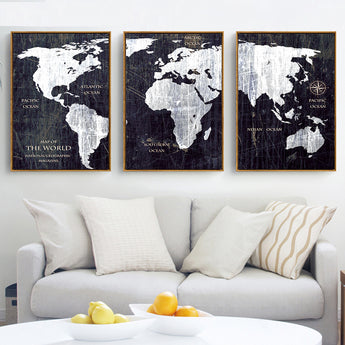 Products tagged multiple canvas discount canvas prints 3 panel watercolor world map painting hd canvas print landscape modular wall painting sofa photo art gumiabroncs Images