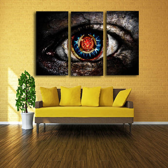3 Panels Colorful Eyes Modern Pop Canvas Art Canvas Print Poster For Living Room Home Deocr Painting No Frame