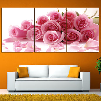3 Pieces Popular Art Modern Red Flower Painting Wall Art Prints Posters Home Decoration For Bedroom Canvas Prints Unframed