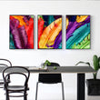3 panel Beauty Colorful Feathers Canvas Print oil Painting Home Decor Wall Art for Living Room Office Decor Dropshipping