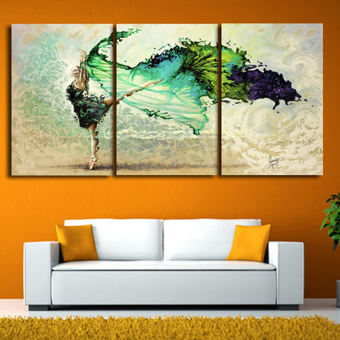 3 pcs Beating butterfly danc Modern Canvas Painting Decorative of living room bedroom Murals Sofa Backdrop abstract Paintings