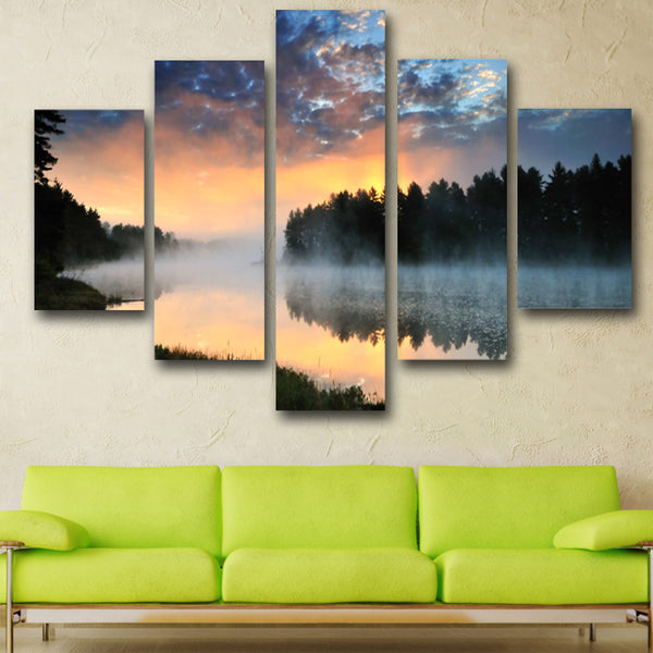 5 Piece Hot Sell Sunrise Modern Home Wall Decor Canvas picture Art HD Print Painting Set of Canvas Arts