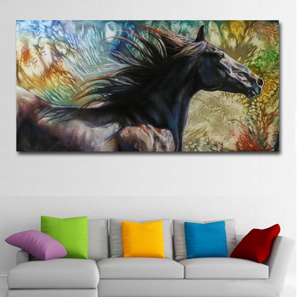 Abstract Art Animal Horse Oil Painting Printed On Canvas Painting Wall Art Prints For Living Room Home Decor Abstract Prints