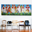 Abstract Art Animal Oil Painting Vrolijk Schilderij Kip zwart Here a Chick Wall Art Prints Huge Canvas Size For Living Room