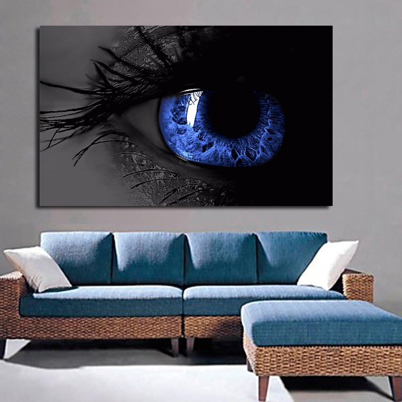 Abstract Art Big Blue Eye Canvas Painting Print On Canvas Modern Art Home Decor Fashion Painting For Living Room Wall Decor