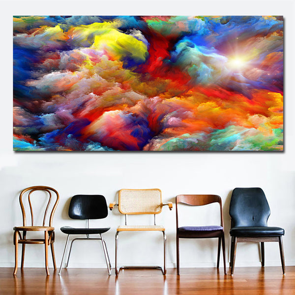 Abstract Art Canvas Painting Modern Wall Picture , Colorful Creating Art Canvas Prints and Poster Home Wall Art Decor