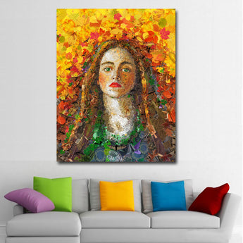 Abstract Art Oil Painting Wall Art Prints Girl Portrait Pictures Printed On Canvas Art Print Posters For Living Room Decor