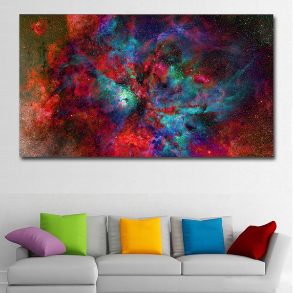 Abstract Art Painting Color Red,Blue Purple Picture Modern Wall Art Canvas Print Poster Home Decor For Living Room Decoration