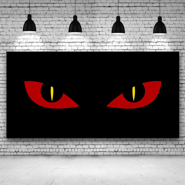 Abstract Eyes Of Cat Large Canvas Print Painting Modern Still Life Wall Art Picture For Living Room Home Decor Frameless
