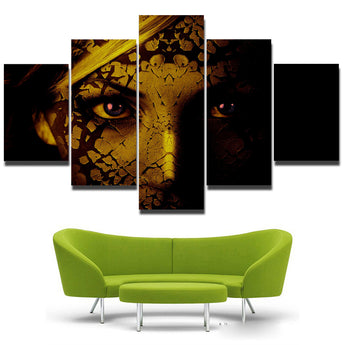 Abstract Figures Wall Art For Large Fashion Painting Canvas Women Face Picture Colorful Sexy Girl Oil Painting Printed On Canvas