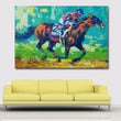 Abstract Landscape Oil Painting American Spirit Horserace Wall Art Painting Printed On Canvas Prints Posters Modular Painting