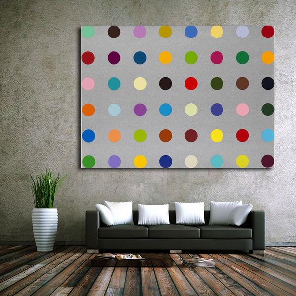 Abstract Pictures Canvas Painting Modern Dots Painting Wall Art Print Decorative Canvas Wall Art Modular Picture(Unframed)
