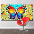 Abstract Splatter Paintings Colorful Butterfly Paintings Wall Art Prints Printing Posters Picture For Living Room Home Decor