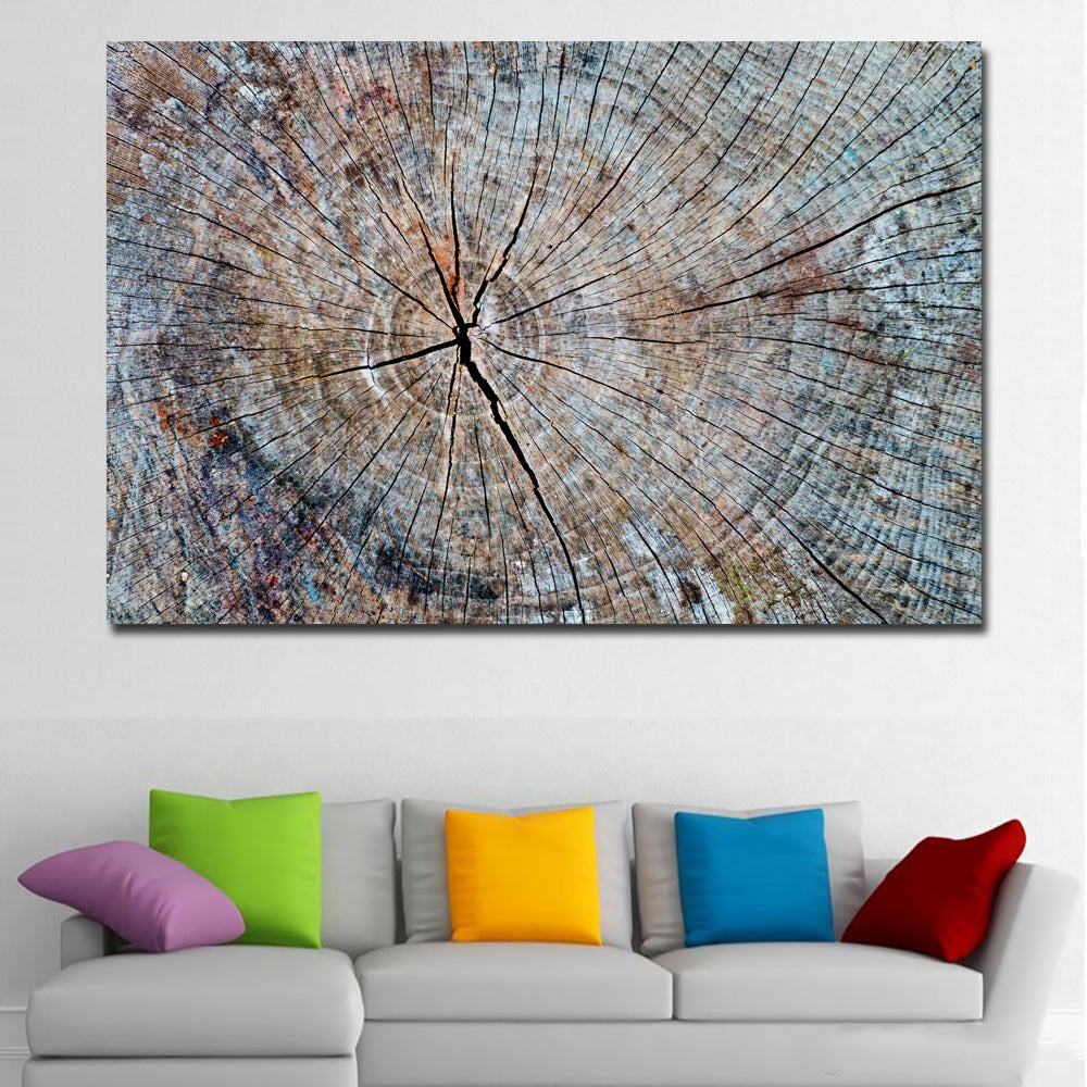 Abstract textured tree painting printed on canvas prints posters home decoration modern wall art paintings grey unframed