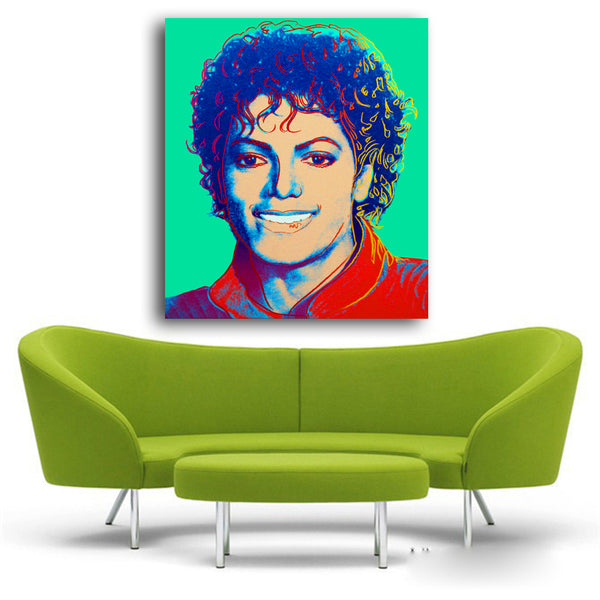 Andy Warhol New pop art print Michael Jacson Abstract Modern Colorful Painting picture Home Decorative Art Picture Unframed