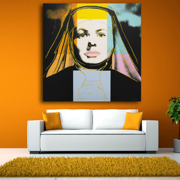 Andy Warhol warhol ingrid bergman nun pop art print Wall Painting picture Home abstract Decorative Art Picture free shipping